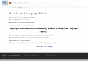 Shropshire Laguages - About the Society