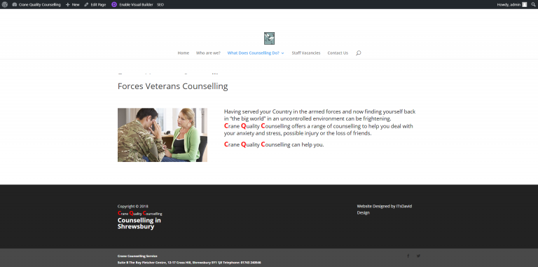 Crane Quality Counselling - Forces Veterans Counselling